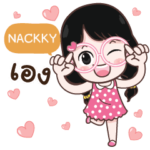 NACKKY cute glasses girl