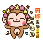 Twopebaby flower monkey 941