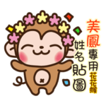 Twopebaby flower monkey 940