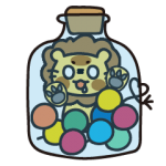 candy lion daily sticker